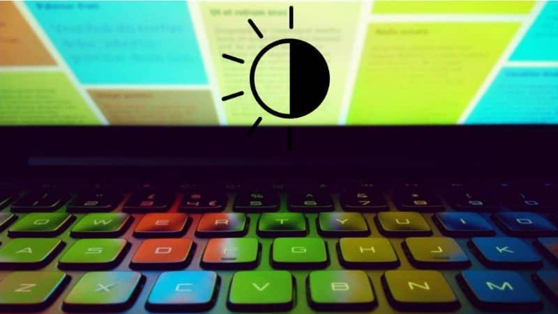 Brillo del teclado