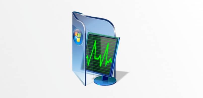 Diseño de pantalla de computadora y logotipo de ventana.