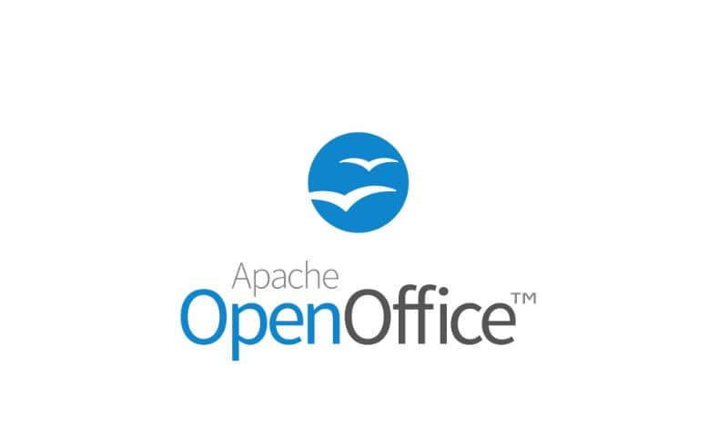 Apache OppenOffice logo sobre fondo blanco.
