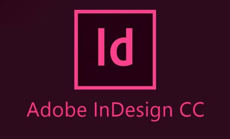 adobe indesing cc logo fondo negro