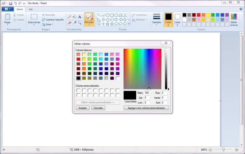 Color del tablero de pintura
