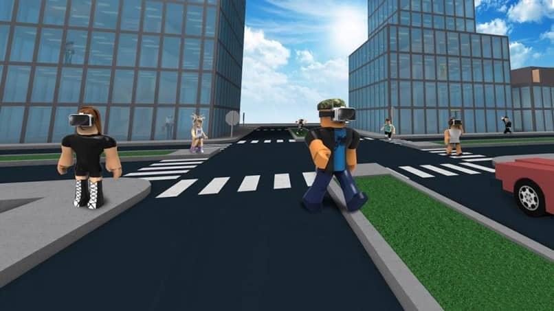 Camino por las calles roblox
