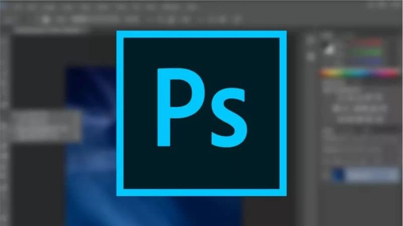 Logotipo de Photoshop, brillo
