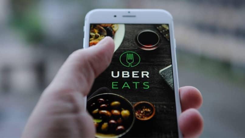 Uber se come la pantalla del logo del móvil