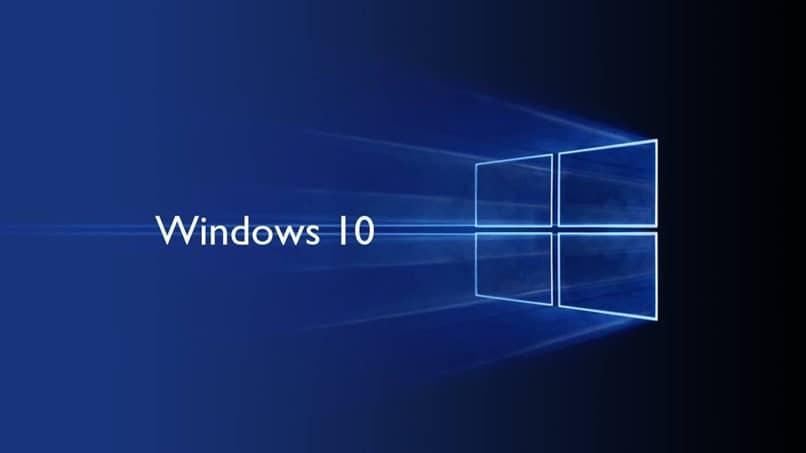 windows diez logo azul
