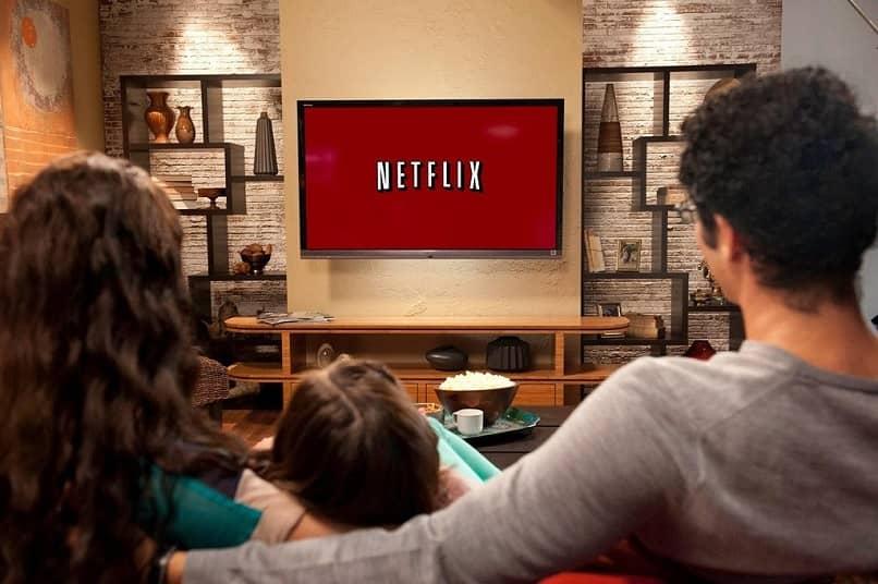 icono de netflix en tv