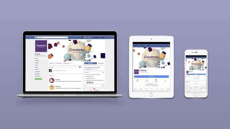 página principal de facebook para win y android