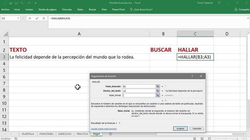 función de búsqueda de Excel buscar información