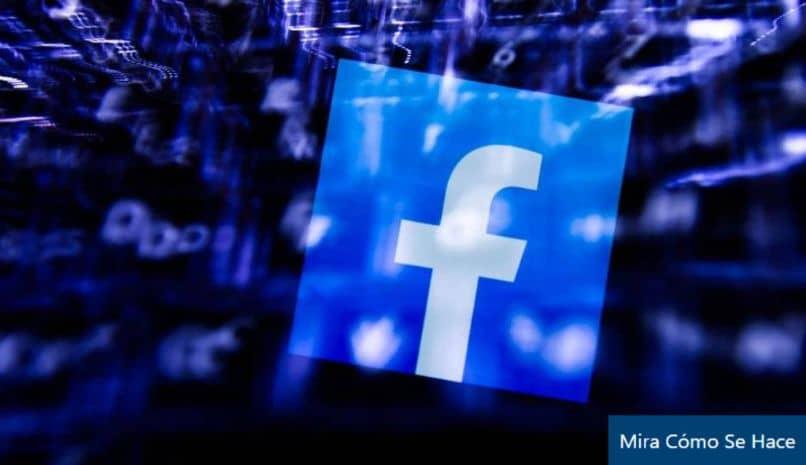 facebook logo azul cubo luces