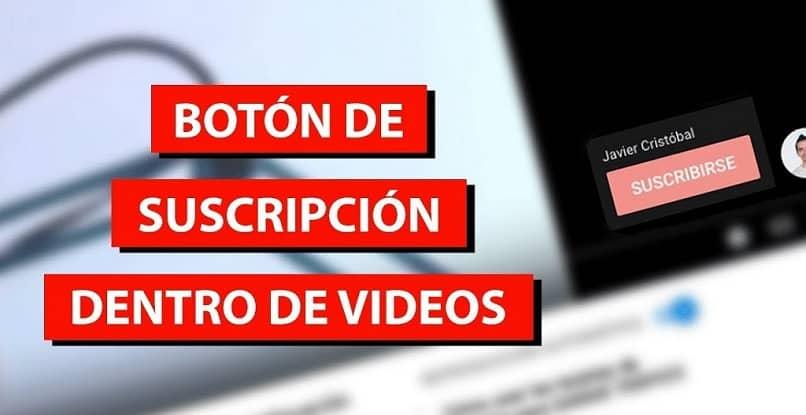 pon el botón de grabar en mis videos en Youtube