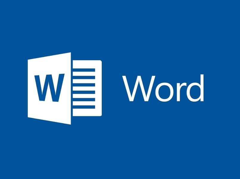palabra blanca letras fondo azul