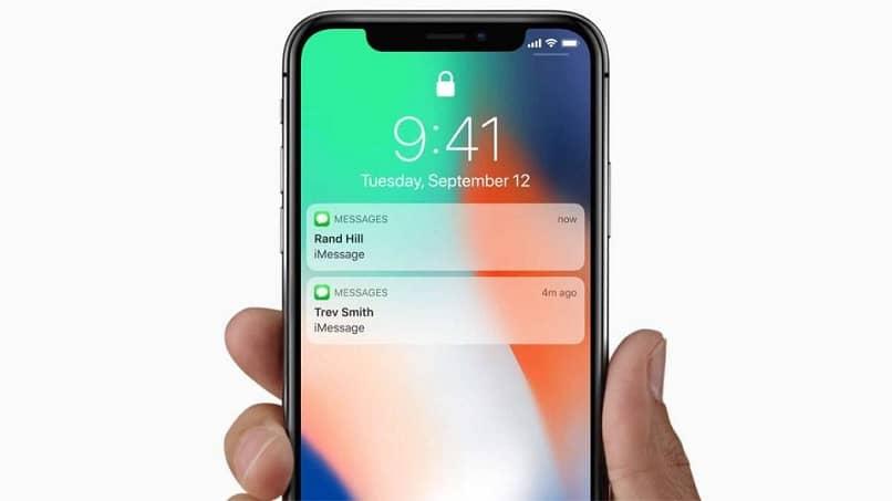 Notificaciones de la pantalla de bloqueo de iPhone