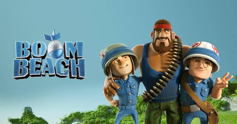 logotipo de boom beach