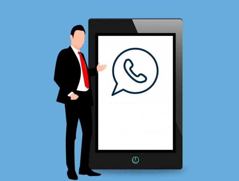 logo de whatsapp cara celular