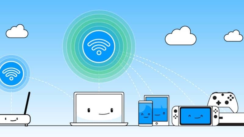diferentes tipos de dispositivos conectados operan Wifi