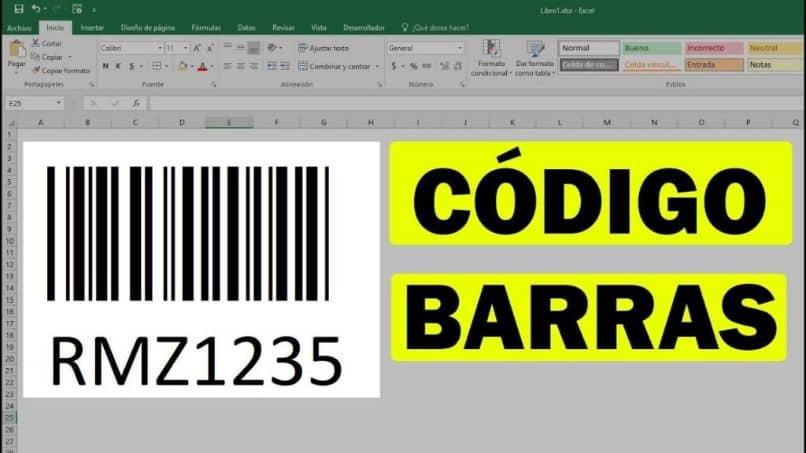 sobresale código de barras