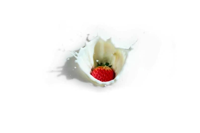 fondo blanco fresa