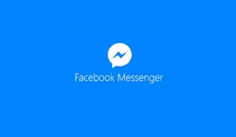 logotipo de facebook messenger sobre fondo blanco y azul