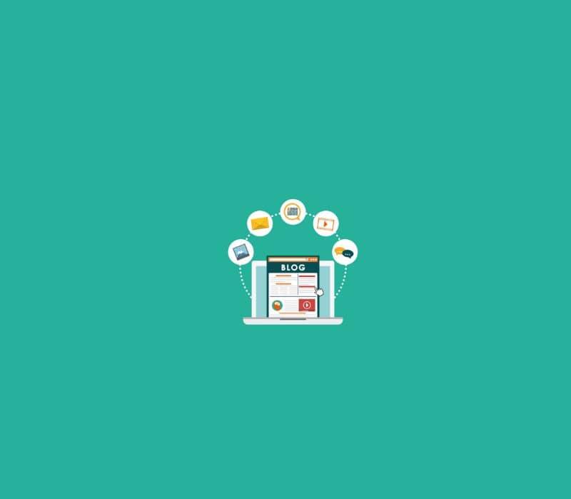 Tienda en línea de vector sobre fondo verde Blogger