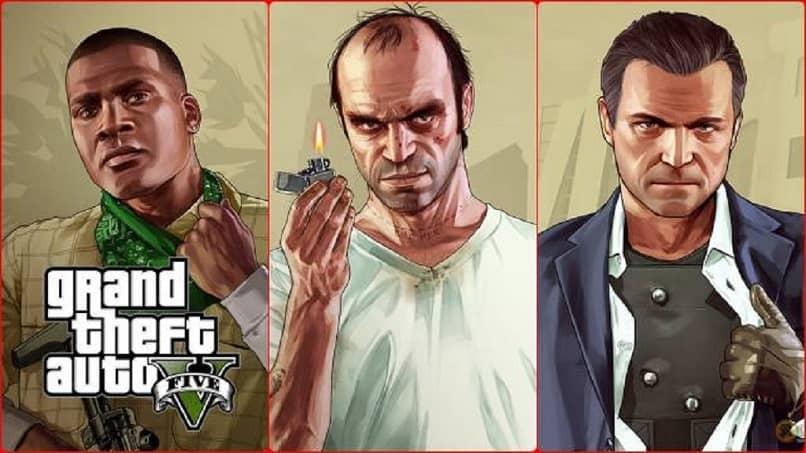 tres hombres de GTA