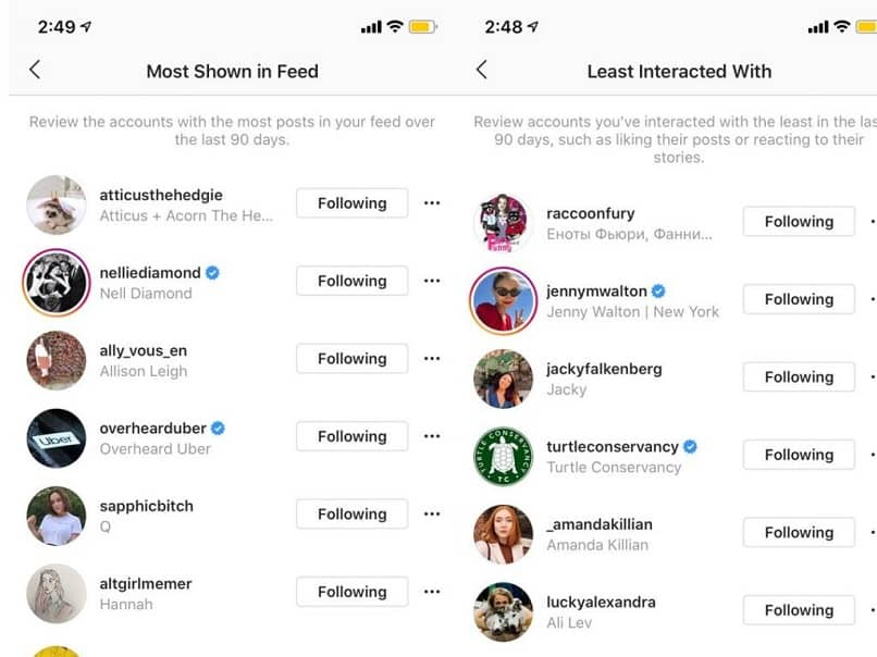 Lista de fans de Instagram