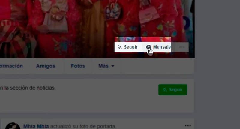 Enviar un mensaje a otro usuario de Facebook