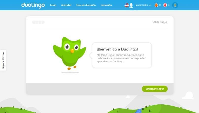 sitio web oficial de duolingo
