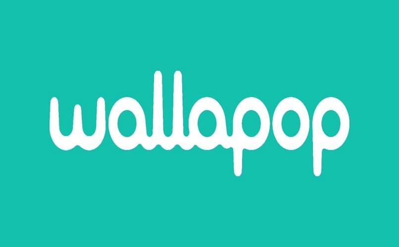 wallapop letras blancas fondo azul claro
