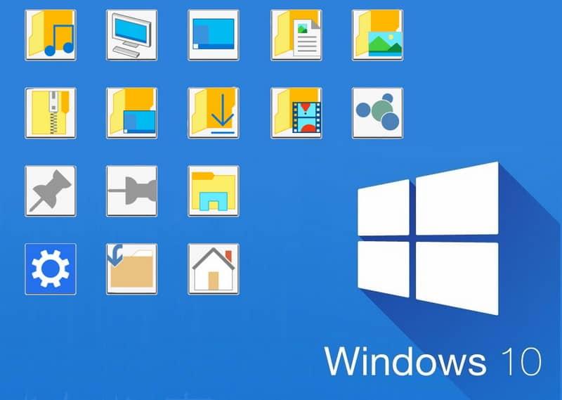 Iconos de Windows 10