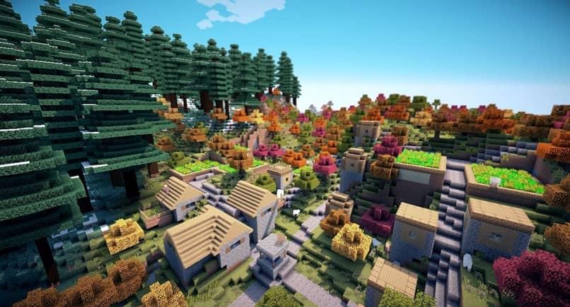 Árboles de Minecraft Village