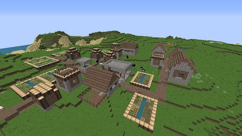 paisaje verde de minecraft