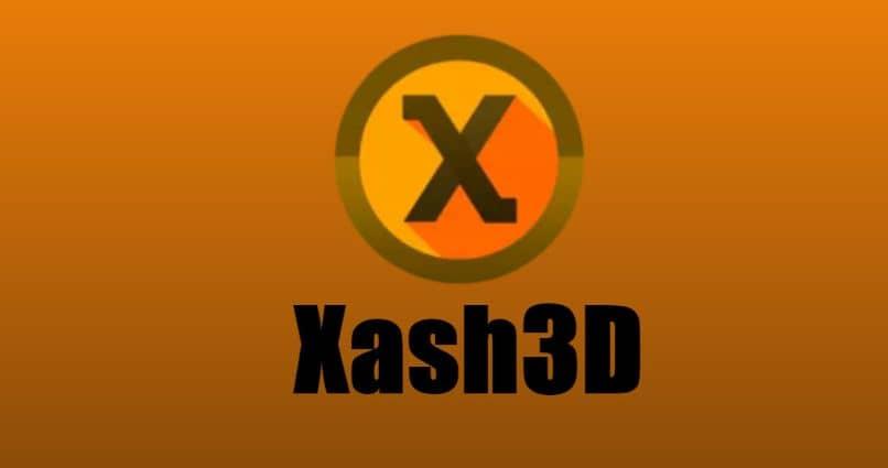 fondo de logotipo de círculo de núcleo naranja xash3d