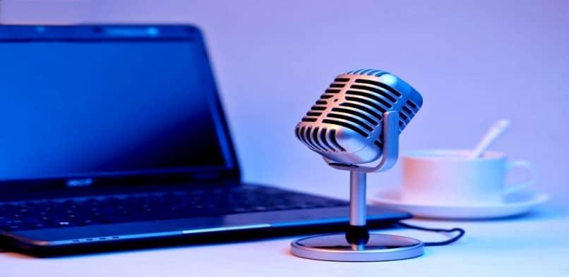 micrófono portátil y de música