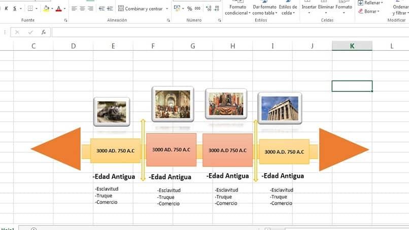 El horario ya ha sido creado en Excel