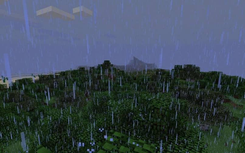 Minecraft lluvia de la selva