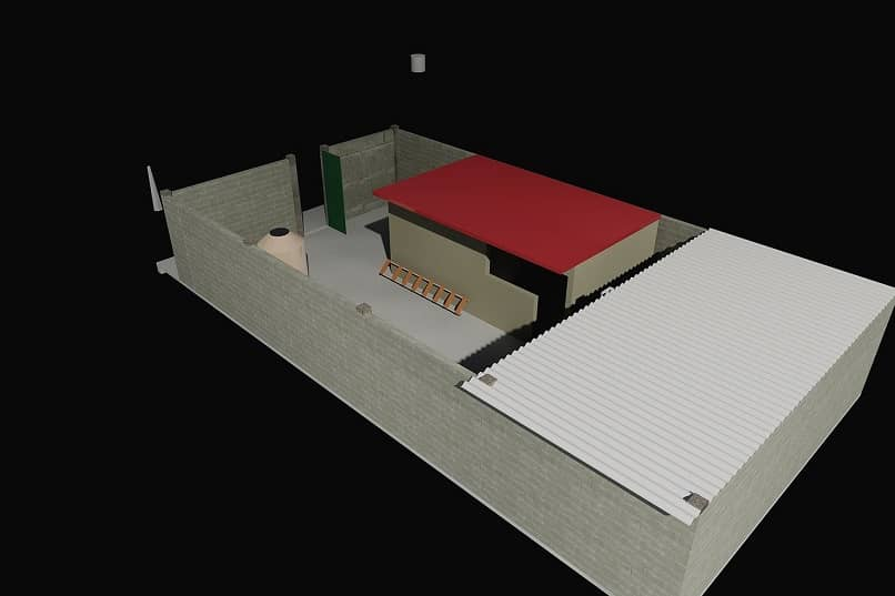 Modelo 3D de una construcción