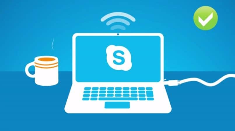 Animación de Skype azul