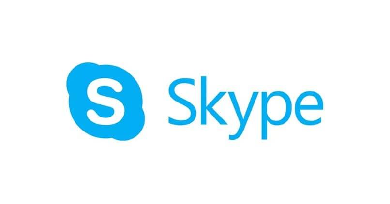 logotipo de skype blanco