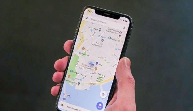 Mapa de zona de iphone