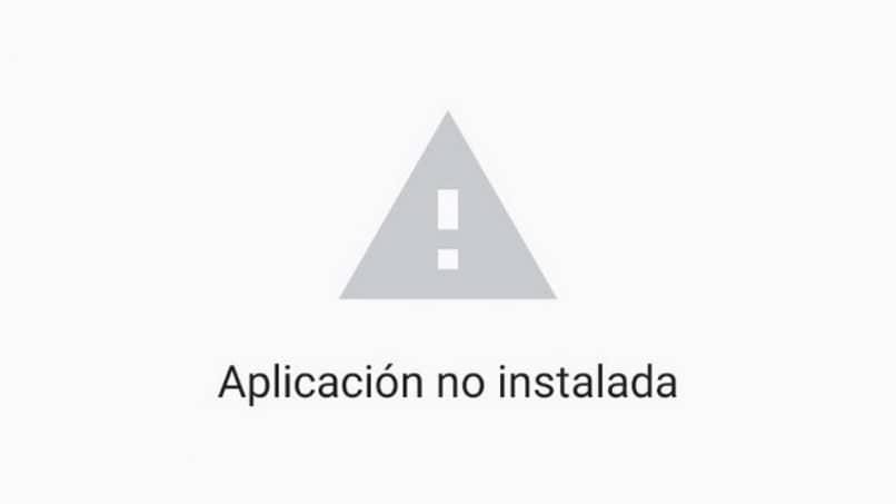 la aplicación no tiene ninguna advertencia instalada