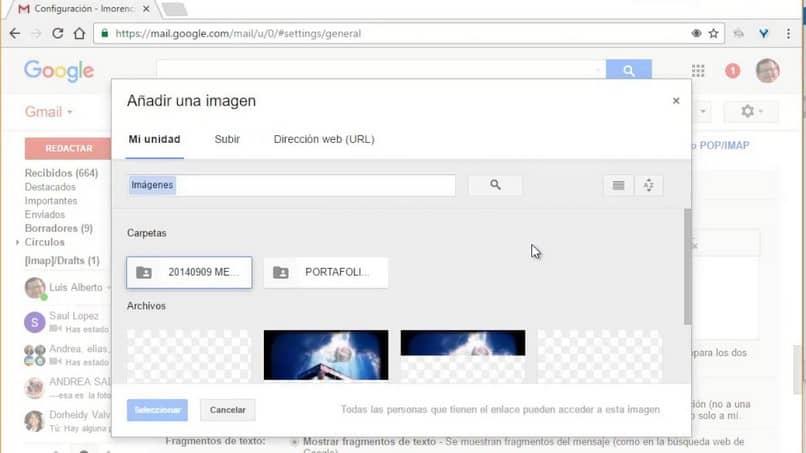 agregar imagen de gmail