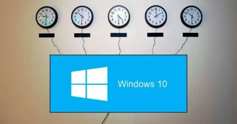 diferentes ventanas de zona horaria