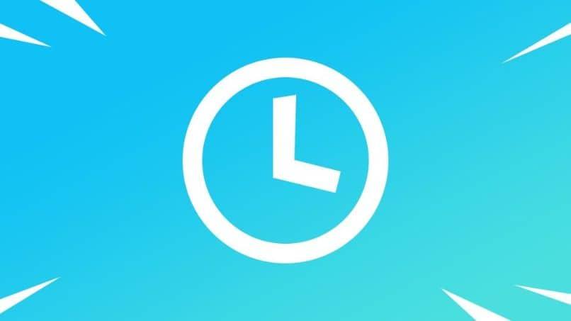 vector reloj azul