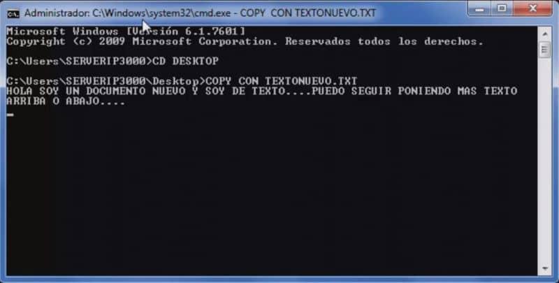 crear un archivo txt cmd