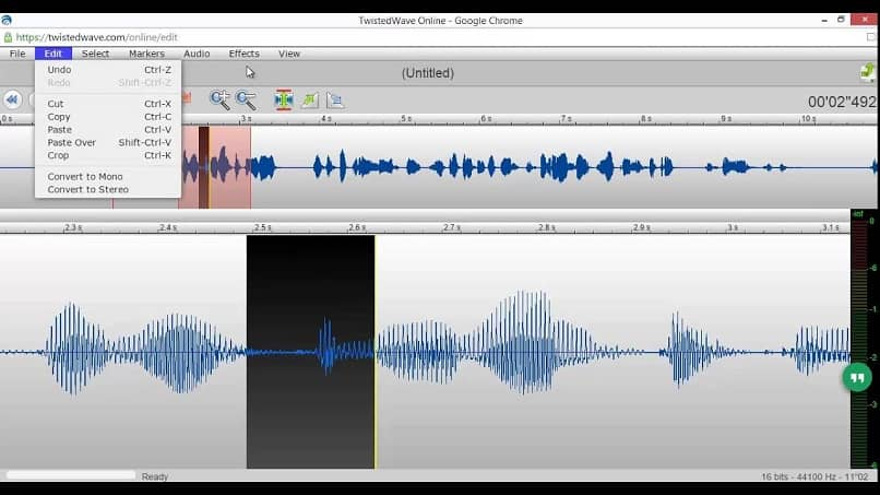 programa de configuración de audio