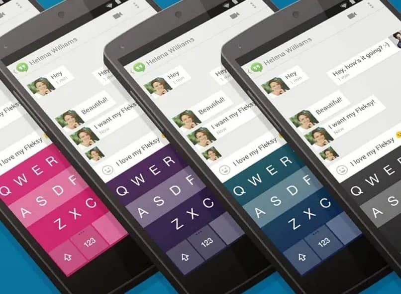teclado de diferentes colores