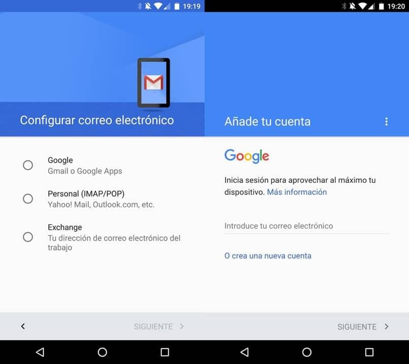 ajustes de configuración de gmail