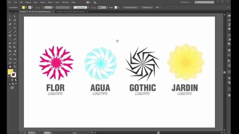 Objetos en Adobe Illustrator