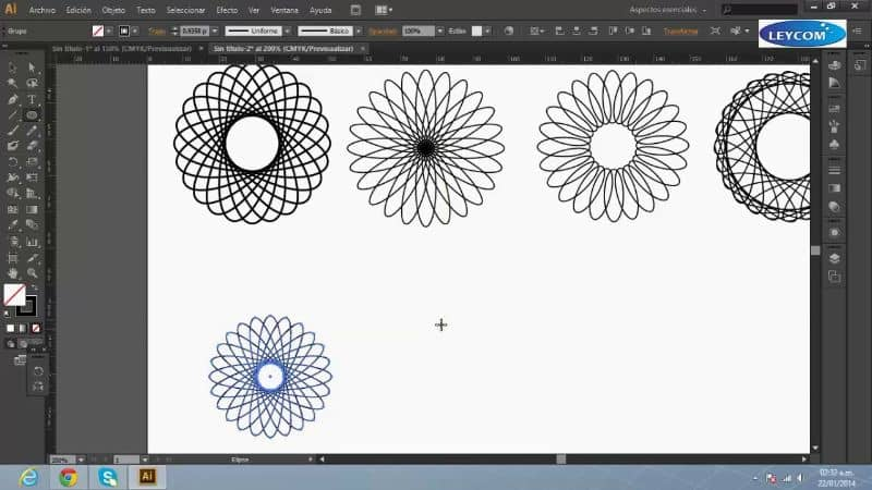 Rotar la herramienta Adobe Illustrator