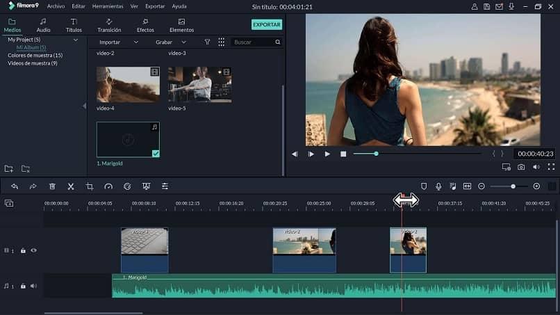 proceso de edición de video